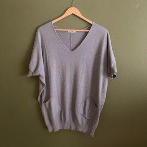 Gray Short Sleeved Sweater